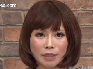 Japanese Opinion Anchor Gets Facial Cum