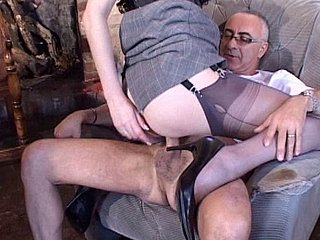 Nylon Stocking Slut Lara Pounded Lasting