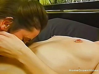 Unskilful lesbians private homemade video