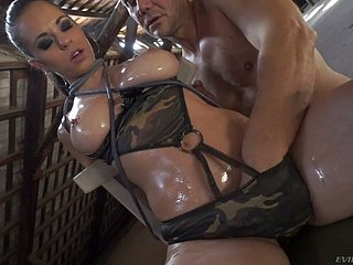 Plighted be in charge take charge Nekane gets mouthfucked wide of horny strong stud