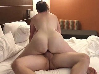 Cuck watches HotWife ride a fat cock.
