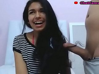 teen colombian hairjob and cum in hair long hair hair