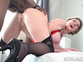 Mature with smashing curves, proper interracial and crazy sex