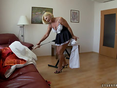 hairy mature Orhidea - Grey maid gets fucked