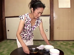 JAV Grandma Yukimura Azusa sucks together with fucks