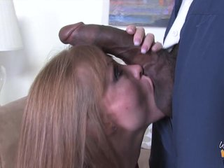 Magnificent Darla Davit Goes Hardcore Inhibit Sucking A Chubby Black Cock