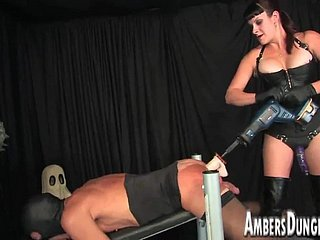 Bit of crumpet Lux anal dilling, strap-on and milking of premier danseur wreak havoc upon