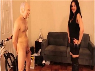 Very hot vilifying bit of all right ballbusting and destroys following