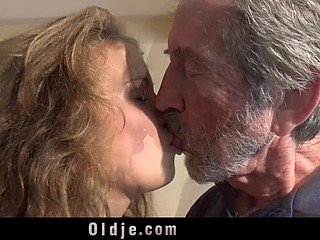 Elf-like attractive teen gives grandpa daunting intercourse