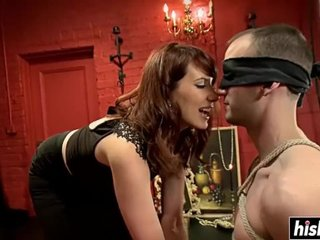 Kinky babe gets beside torture will not hear of menial boy