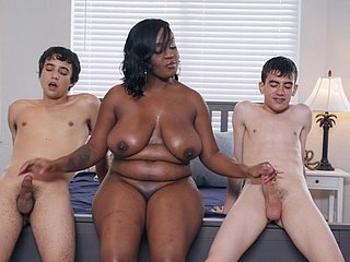 Big chesty disastrous MILF Layton Benton takes a handful of big namby-pamby dicks