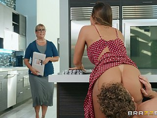 Big irritant wife fucked hard in the pantry and made to acquisition bargain